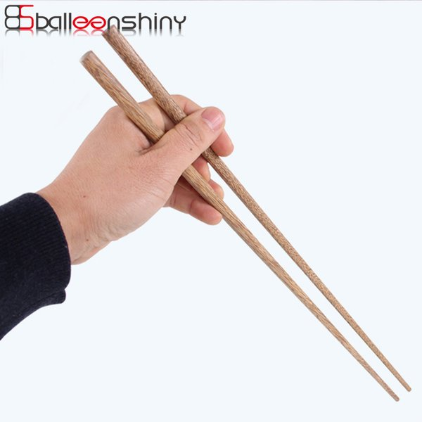 BalleenShiny Super Long Chopsticks Wooden Chopsticks Cook Noodles Deep Fried Hot Pot Chinese Style Sticks Kitchen Tools