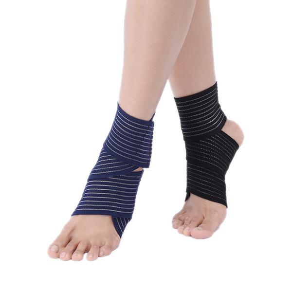 DHL libero elastico traspirante avvolgere caviglia supporto brace compressione ginocchio gomito polso caviglia supporto del piede avvolgere fasciatura sportiva cinturino 3 colori G891Q