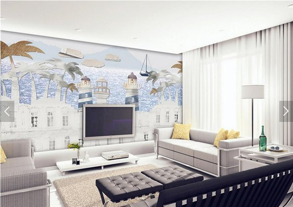 Kids Bedroom Castle Wallpaper Murals HD Photo Wall Paper Roll Carton Wallpapers papel de parede infantil 3d quadro de parede
