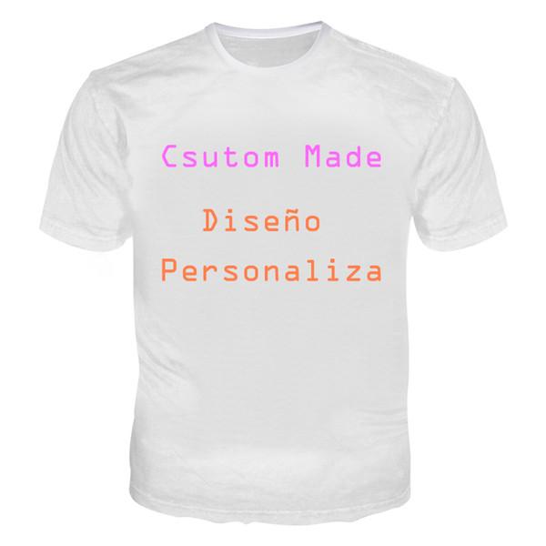 3d customized tshirt men women customer t shirts print on demand 3d casual tees  t-shirt plus size 5xl diseño personalizado