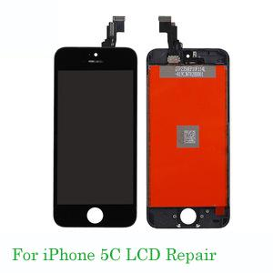 For iphone 5C lcd Repair LCD Complete Screen with Frame Full Assembly Replacement Cell Phone Touch Panel for iPhone 5C