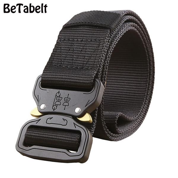 BT Military Equipment Army Tactical Cintura Uomo addensare fibbia in metallo robusto cinturino in Nylon Belt Combat