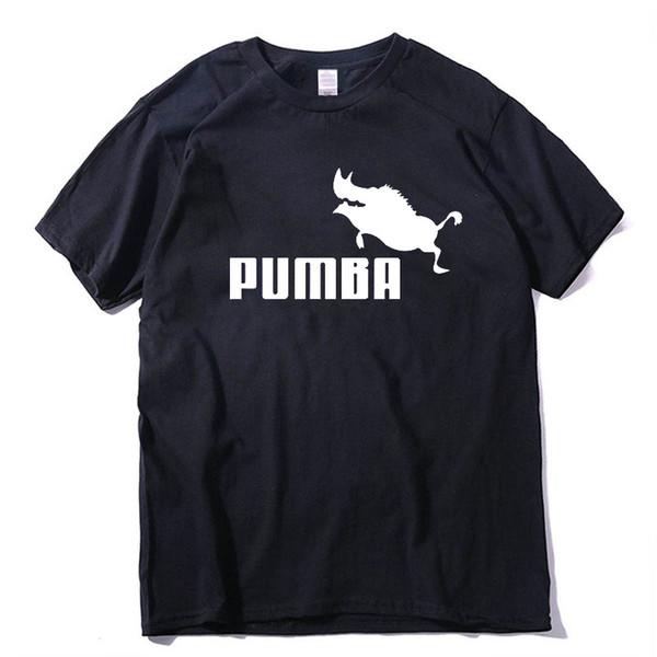 Acheter Coton De Qualité Supérieure Décontracté O Cou Pumba Hommes T Shirt À Manches Courtes Tricoté Harajuku Imprimer T Shirt Pour Les Hommes 2017 De