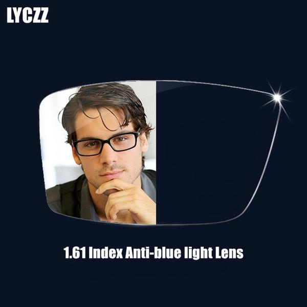 LYCZZ 1.61 Anti-Blue Ray dünne Asphärische optische Linsen Prescription Vision Myopie Presbyopie Korrektur Computer Reading Lens