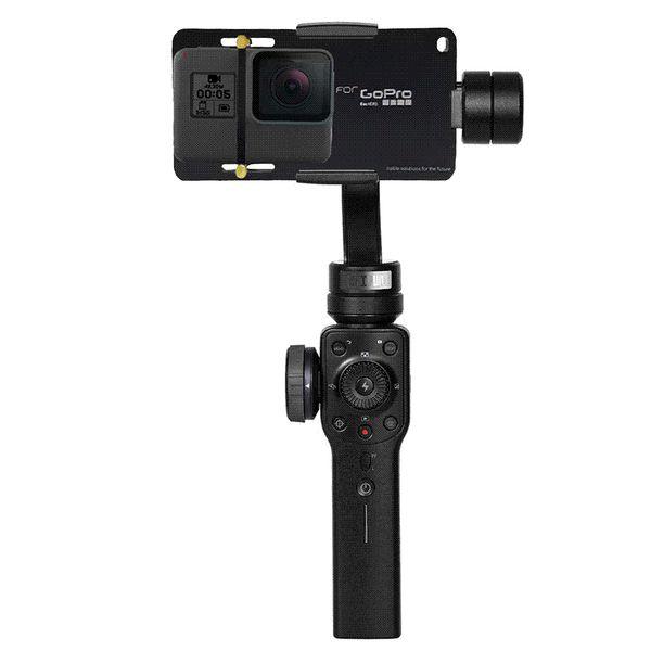 TUYU Stabilisator Adapter Schalter Montageplatte für Smooth 4 GoPro Hero 6/5 Handheld Zubehör DJI osmo Smooth Q Smartphone Gimbal