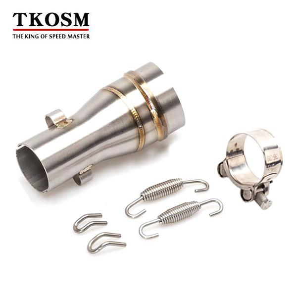 TKOSM 51mm Motorrad GP Auspufftopf Link Rohr Adapter Motorrad Mittleren Rohr Escape Connector