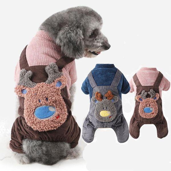 Pet Dog Clothes Blue Pink Color S-xxl Size For Choice Super Warm Dog Winter Pet Jacket Double-deck Corduroy four-legged dog clothes