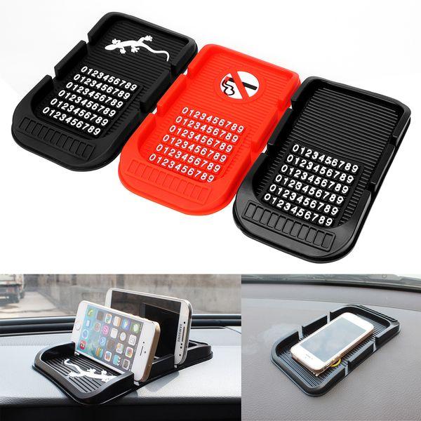 Con numeri di telefono Holder Parcheggio Supporto per GPS per la chiave del telefono cellulare iPhone antiscivolo Pad alta qualità cruscotto Anti Slip Mat