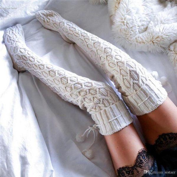 купить оптом оптовая женская зима вязание крючком вязаный чулок