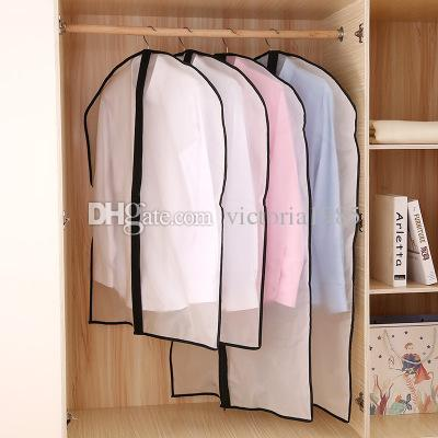 Zipper Bags for Storing Clothes Garment Suit Coat Dust Cover Protector Wardrobe Storage Bag Case for Clothes Organizador