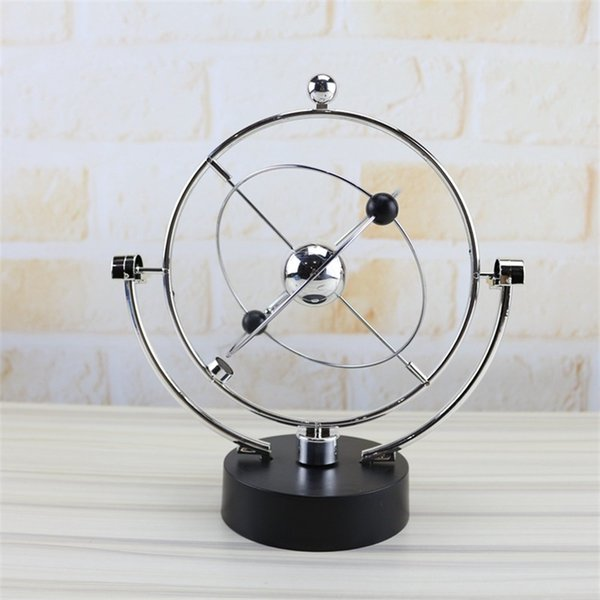 Kinetic Orbital Gadget Rotate Perpetual Motion Instrument Model Toy Home Office Decor Artificial Globe Multi Pattern 13hz Ww