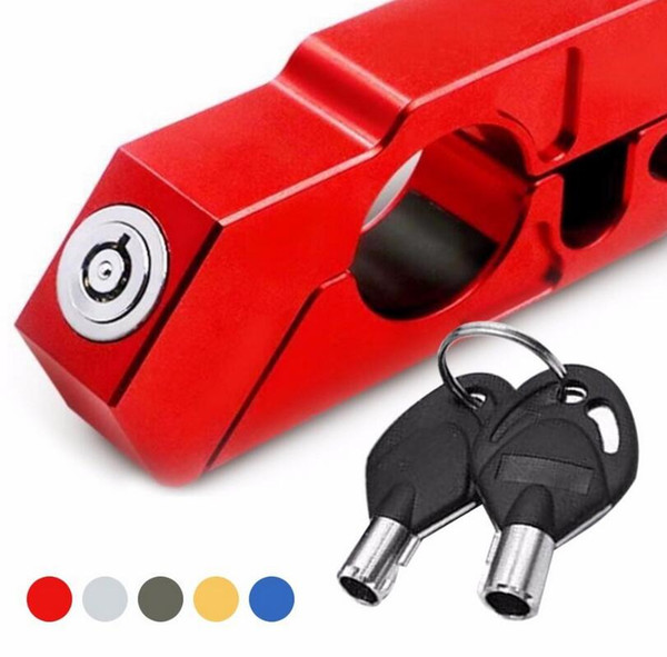 Handlebar lock cooter brake ecurity theft protection for motorcycle lever throttle ecurity lock 5 color eea148