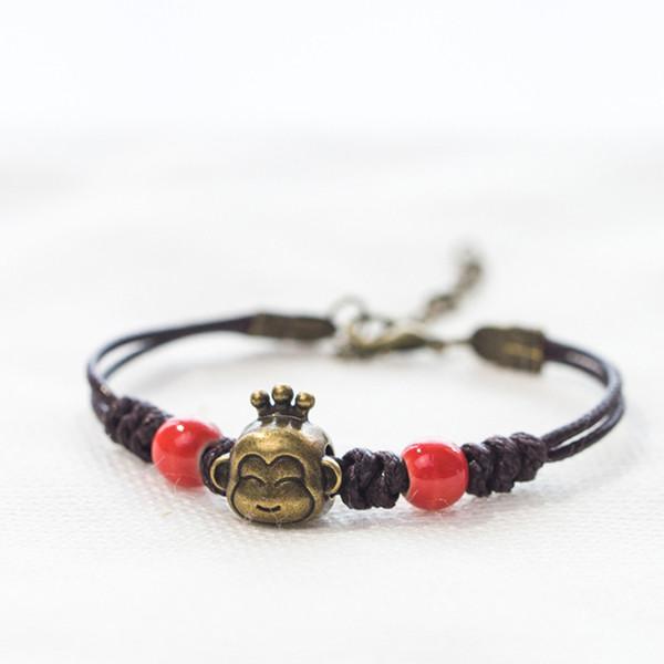 National style monkey animal simple and retro 100 with fresh personality bracelet.