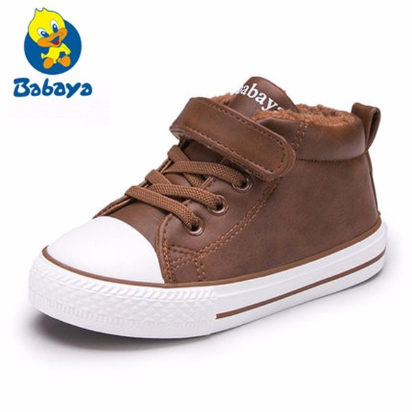 Baby shoes Girl Children Soft Moccasins Shoe Boy winter baby Casual shoes Fashion High Cotton-made Baby girl little kids shoes