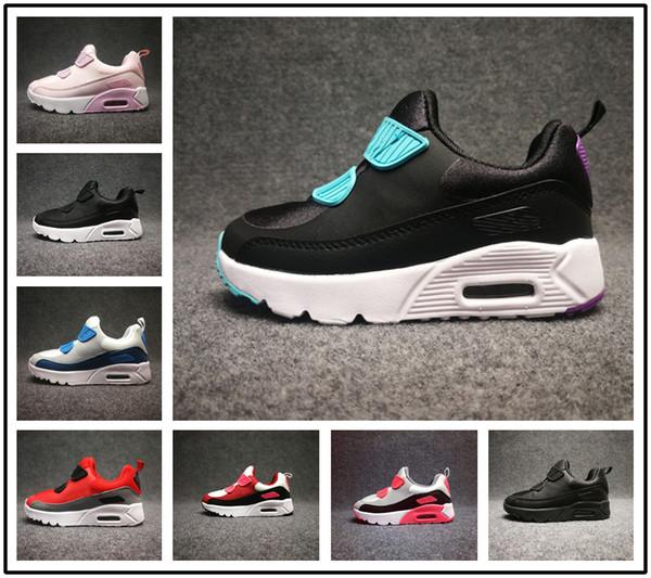 Großhandel Nike Air Max 90 Designer Brand Kinderschuhe Baby Kleinkind Sportschuhe 90 Laufschuhe Kinder Jungen Mädchen Turnschuhe Eur 28 35 Von