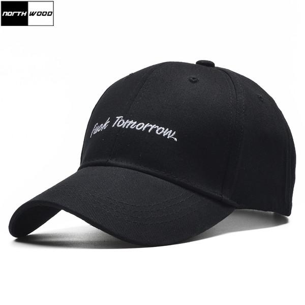 [NORTHWOOD] Black Letter Baseball Cap Men Snapback Hip Hop Cap Korean Bone Casquette Homme Women Baseball Caps Fitted Hats