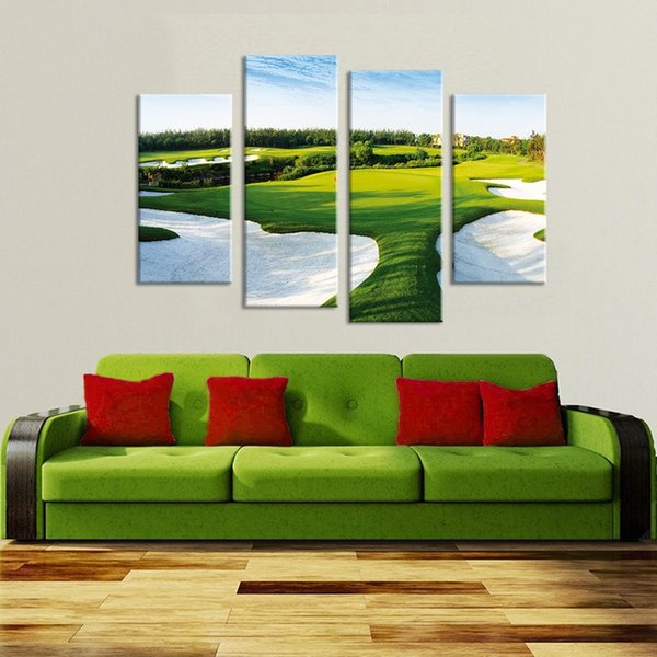 Living room decoration wall painting HD print canvas paint A beautiful golf course