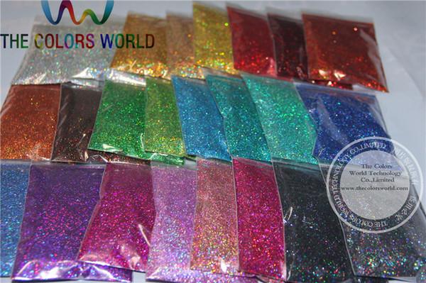 24 Laser Holographic Colors 0,4 MM Größe Glitter für Nagel Dekoration und andere DIY Zubehör