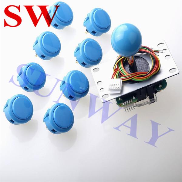 Neue Arcade DIY Kit Teile USB Encoder Zu PC Ursprüngliche Joystick JLF-TP-8YT Sanwa + Sanwa OBSF-30 Tasten für Fenster PC-Spiele DIY