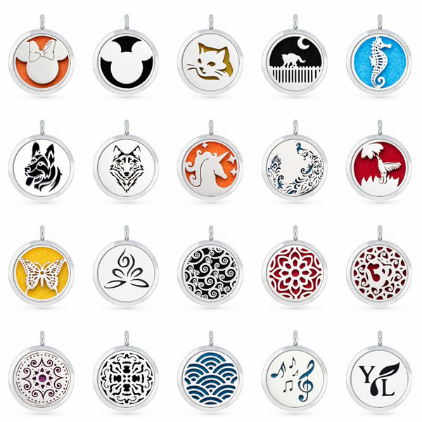 best selling A16 Perfume Aromatherapy essential oil Diffuser Locket 30mm Floating locket pendant (Felt Pad randomly freely) as gifts