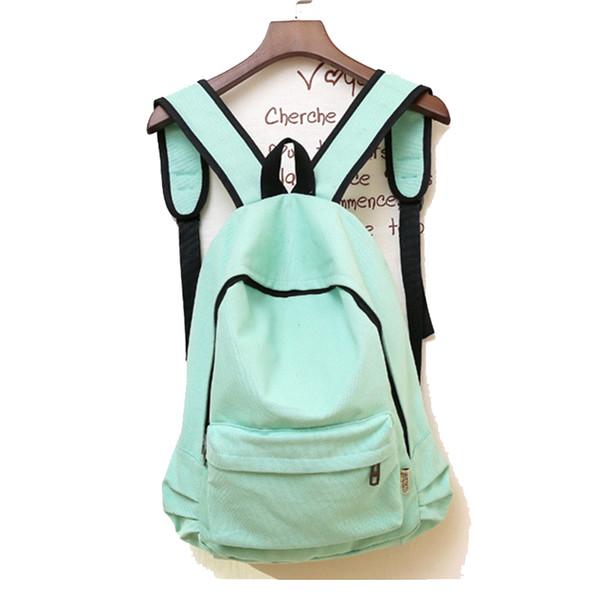 New Leisure Women Backpack Shoulder Bag Canvas Plain Japan Style Minimalism Best Backpack For Adolescent Girl Female Travel Bag