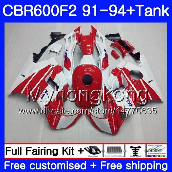 Body For HONDA CBR 600 F2 FS CBR600 F2 1991 1992 1993 1994 Cowling red 1MY.43 CBR600FS CBR 600F2 CBR600RR CBR600F2 91 92 93 94 Fairing kit