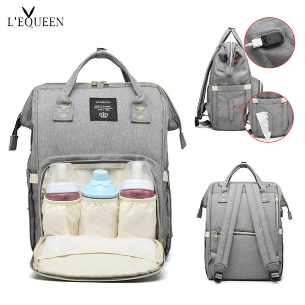 Men's Bags 2018 Baby Diaper Backpack With Usb Interface Large Capacity Waterproof Nappy Bag Kits Mummy Maternity Travel Nursing Backpack
