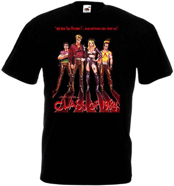 100% algodón casual CLASE DE 1984 Movie Poster camiseta NEGRO todas las tallas 2018 Nueva marca para hombre Camiseta de algodón de manga corta de impresión