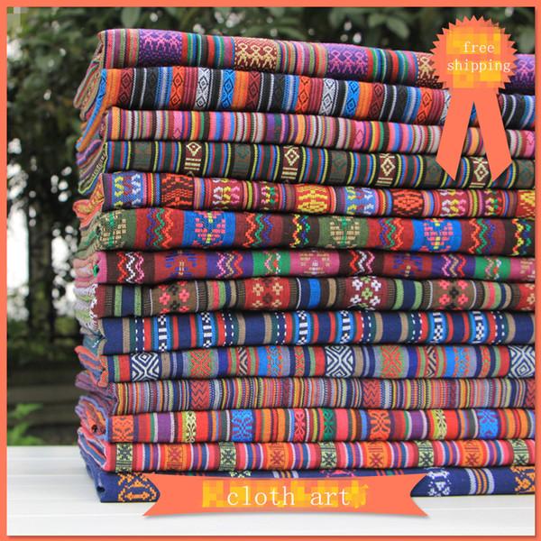 1 metro tela vintage para coser ancho 59 pulgadas patchwork tela étnica decorativa hilo teñido jacquard DIY