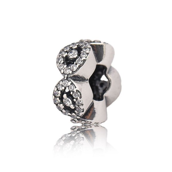 Authentic 925 Silver Beads Cascading Glamour Spacer Charms Fits European Style Jewelry Bracelets