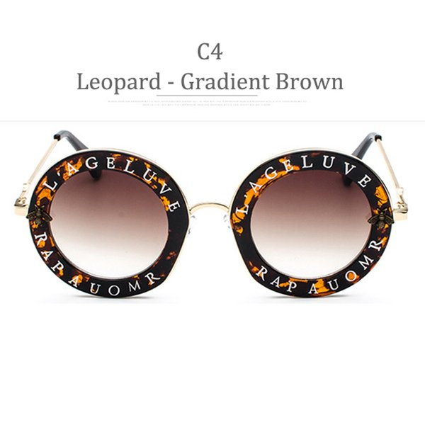 C4 Leopard Frame Gradient Brown