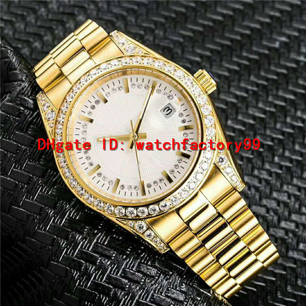 Datejust Swiss Automatic mens watch Diamond 18k nanometer gold plated 316L Steel Sapphire Crystal Super waterproof men's watch