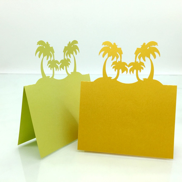 Laser Cut Place Cards With Trees Paper Carving Seating Cards Party Table Decorations Name Cards for Weddings PC14