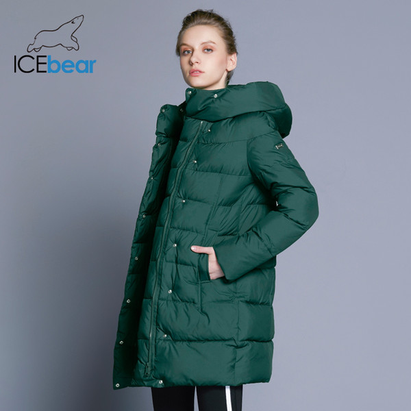 2019 ICEbear 2018 Hot Sale Winter Womens Coats Down Thickening Jacket And Coat For Women High Quality Parka Five Colors 16G6128D