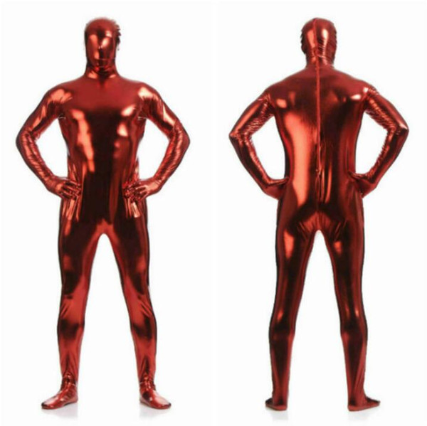 Adult Lycra Full Body Zentai Suit Custome For Halloween Men Second Skin Tight Spandex