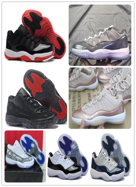 Cheap 11 XI Low Cool Grey Emerald Rose Gold Bred Concord Carolina Georgetown Navy Gum Basketball Shoes 11s Sports Shoes mens Trainers Boots