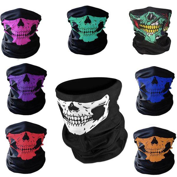 Skull Mask Bandana Bike Bicicletta Casco da ciclismo Maschera per il viso Mezza faccia Maschere di gioco Paintball Sci Sport Fascia