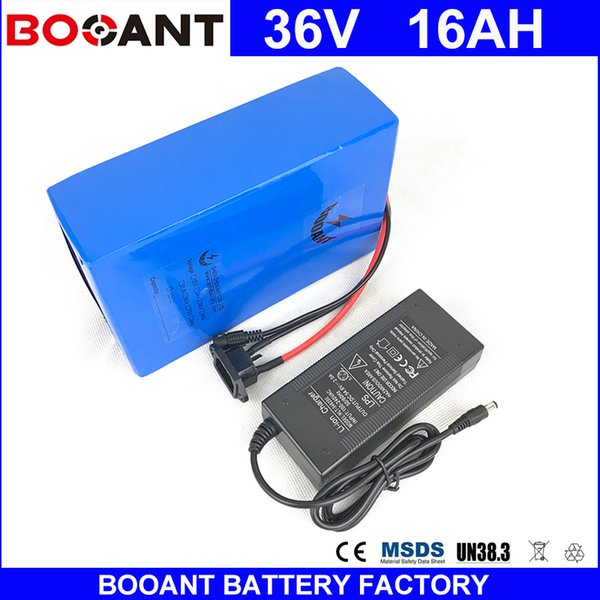 BOOANT E-Bike Battery For Bafang 1500W Motor Li-ion Battery pack 10S 8P 36V 16AH Electric Bicycle Li-ion Battery with 2A charger
