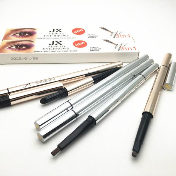 New 3D eye brows 3 in1 Air Cushion Triad Eyebrow Pencil powder Brush Waterproof Long lasting MakeUp EyeBrow Cosmetic Make Up eyebrow pen