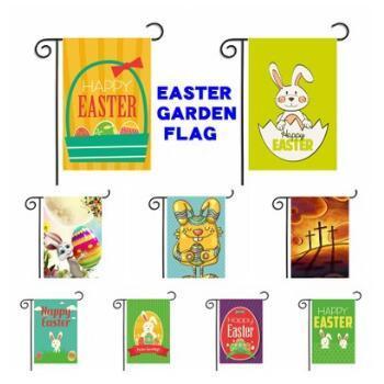 30 * 45 cm Fahnen Garten Flagge Banner Thanksgiving Day Ostern Balkon Wohnkultur Polyester Garten Banner Dekoration CCA8958 100 stück