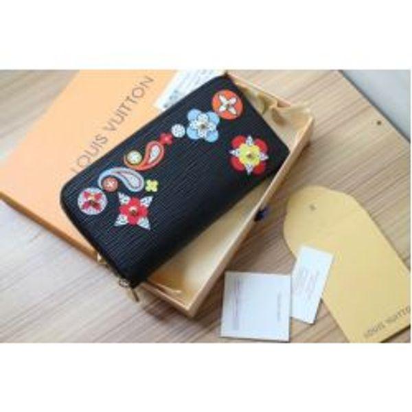 M62067 WOMEN FLOWER PRINT WATER RIPPLE WALLET PURSE BAG wallet purse Belt Bags Mini Bags Clutches Exotics