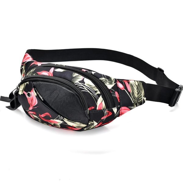 Women Waist Bag Floral Pattern Fanny Pack Women Travel Bags Waist Pack Shoulder Bag Money Belt Monedero