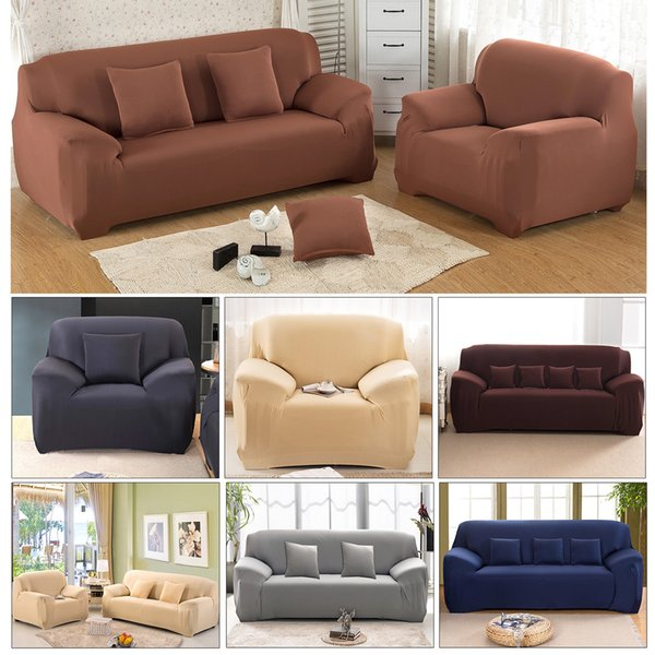 Hot Sale Multi Color Sofa Couch Slipcover Elastic Fabric Stretch Covers Not Include The Sofa 1 2 3 4 Seater Small Chair Slipcover Dining Armchair