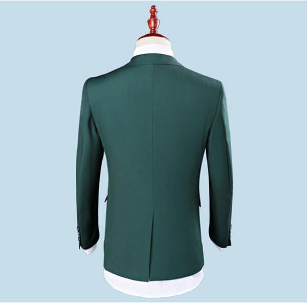 2018 Men Suits Army Green Business Wedding Suits Bridegroom Evening Dress Party Custom Slim Fit Formal Tuxedo Best Man Blazer Prom 3Piece