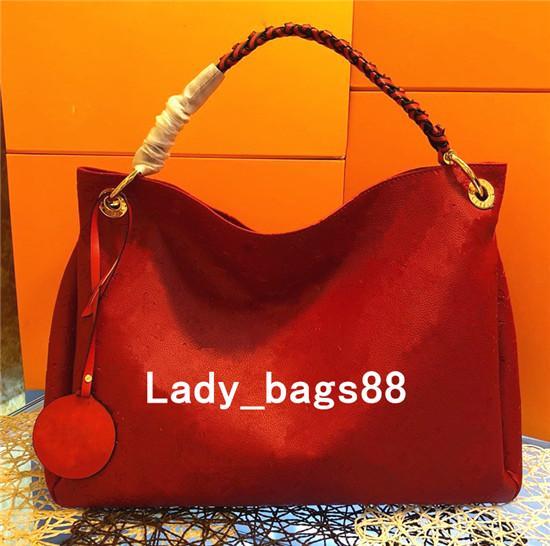 Luxus 5A Qualität Artsy Farbige Frauen Vintage Prägung Blumen Tasche M40249 Echtes Leder Einkaufstasche Designer Geldbörse Schulter Handtasche