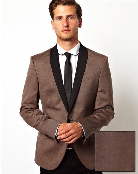 Brown Men Suit Wedding Suit for Men Style Suits Blazer Slim Fit Custom 2 Piece Tuxedo (Jacket+Pants) L648