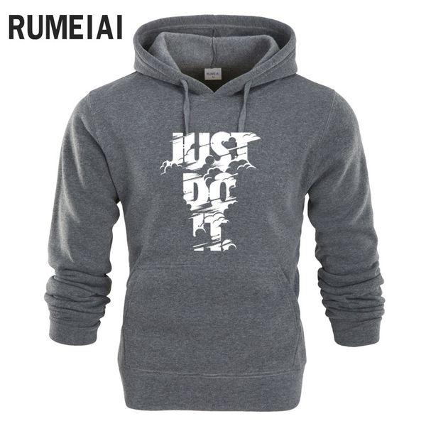 RUMEIAI hoodie Men Letter 3D print Hip Hop Sweatshirt fashion Mens hoodie 2017 brand Winter Cotton pullover male hoody Moleton Y1890303
