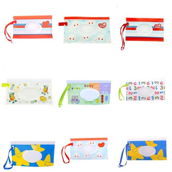Estilos múltiples Viaje al aire libre Bebé recién nacido Niños Caja de toallitas Toallitas húmedas Caja de dispensador Bolsa Ecológico Toalla de papel mojado