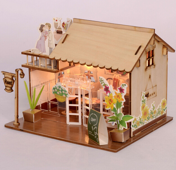 Baby Room Home Decoration Doll House Model Furniture DIY 3D Puzzle Kit Wooden Paper Toy Cute Lovely Assemble Gift
