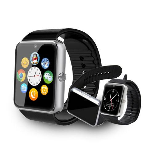 Bluetooth smart watch gt08 seyretmek telefon smartwatch gt08 sim kart tf kart apple iphone için kamera akıllı saat iphone 7 6 6 s android